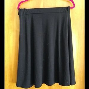 Black XL lularoe Azure skirt